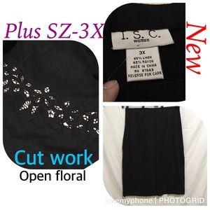 Dresses & Skirts - New women plus size 3X skirt linen open cutwork Q